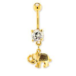 GOLD DESIGN ELEPHANT BELLY RING