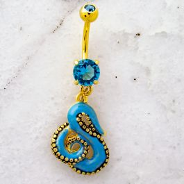 OCTOPUS TENTACLE BELLY RING