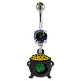 POT OF GOLD BELLY RING
