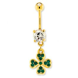 ST. PATTY BELLY RING