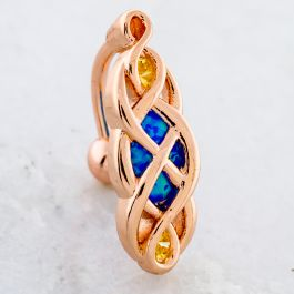 ROSE GOLD TWIST WITH OPAL NAVEL RING