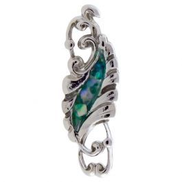 FILIGREE WITH ABALONE SHELL INLAY FOR TRAGUS OR HELIX