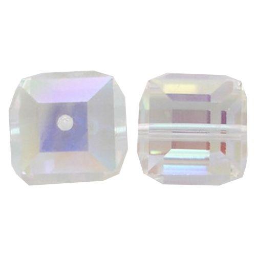 Crystal Cube Captive beads -4MM-AURORA BOREALIS