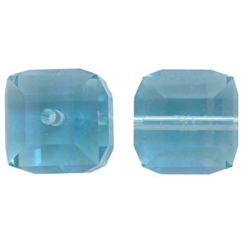 Crystal Cube Captive beads-4MM-AQUA