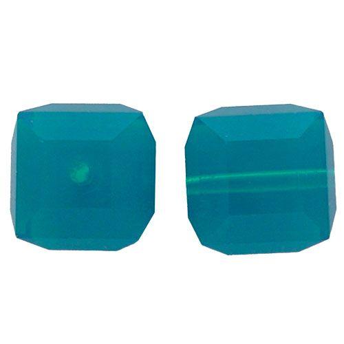 Crystal Cube Captive beads made by Swarovski-4MM-CARIBBEAN BLUE