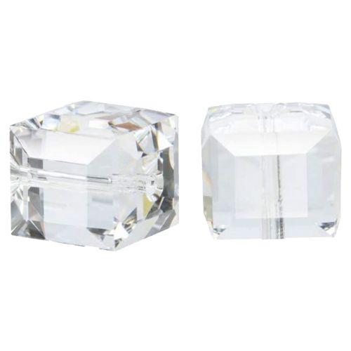 Crystal Cube Captive-4MM-CLEAR