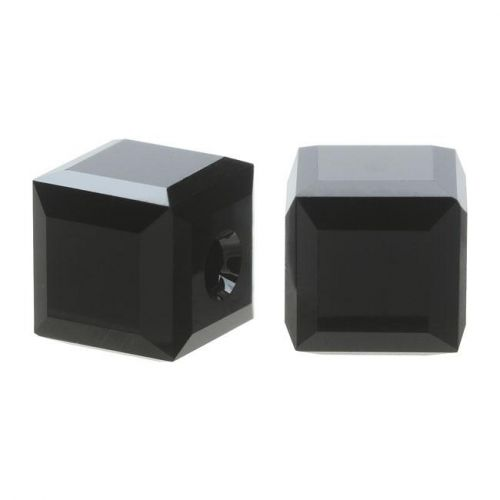 Crystal Cube Captive beads made by Swarovski-4MM-JET