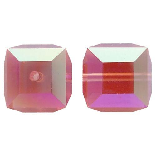 Crystal Cube Captive beads made by Swarovski-4MM-ROSE AB