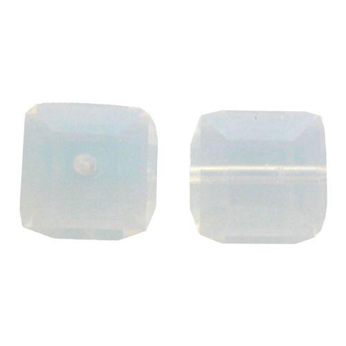 Crystal Cube Captive beads made by Swarovski-4MM-SWAROVSKI WHITE OPAL