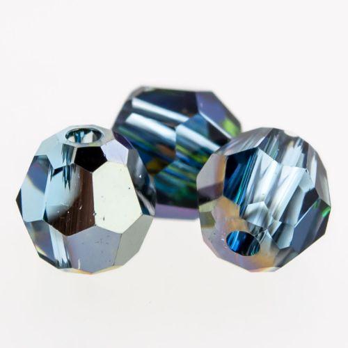 Multi faceted Round Captive Bead 4mm-4MM-AQUAMARINE GOLDEN SAHARA