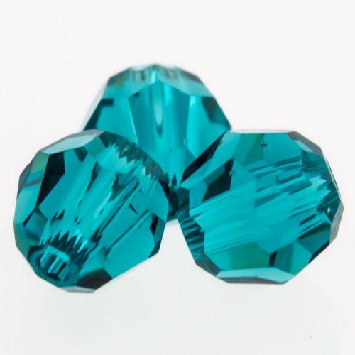 Swarovski® Multi faceted Round Captive Bead 4mm-4MM-BLUE ZIRCON