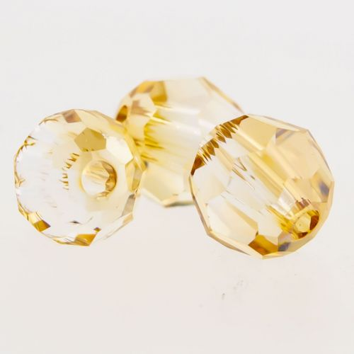 Swarovski® Multi faceted Round Captive Bead 4mm-4MM-CRYSTAL GOLDEN SHADOW