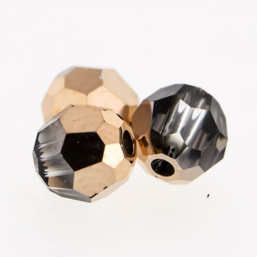 Swarovski® Multi faceted Round Captive Bead 4mm-4MM-CRYSTAL ROSE GOLD