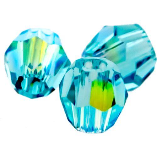 Multi faceted Round Captive Bead 3mm-GLACIER BLUE