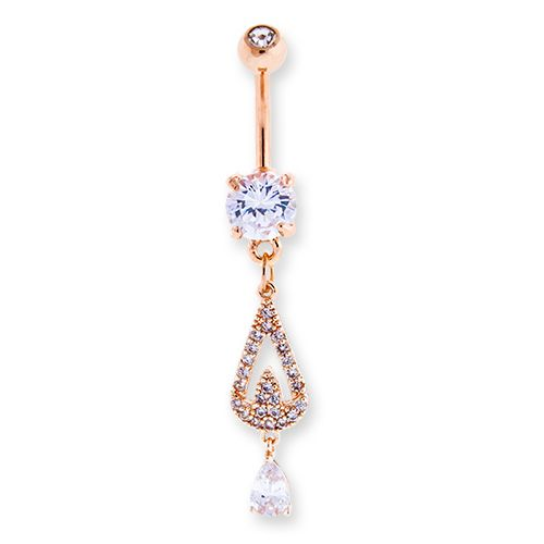 PAVE CHANDELIER BELLY RING
