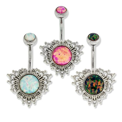 OPAL FILIGREE BELLY RING