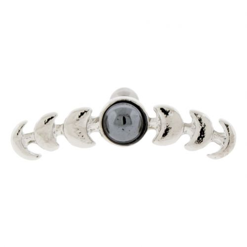 HEMATITE MOON PHASES BARBELL