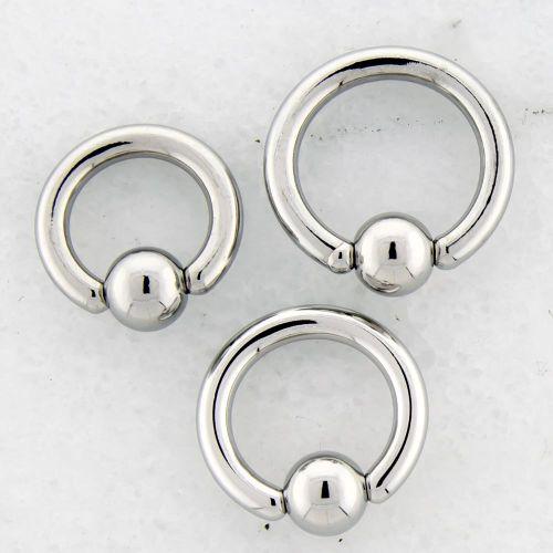10G HAND POLISHED STEEL CAPTIVE BEAD RINGS