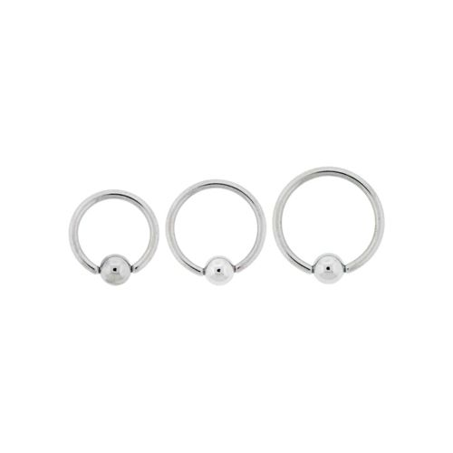 16G STEEL CAPTIVE BEAD RINGS