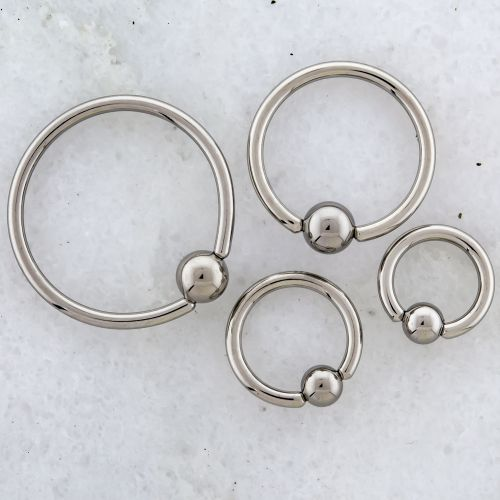 14G STEEL CAPTIVE BEAD RINGS