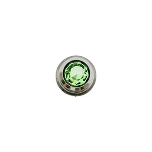 0G LIGHT GREEN GEM INSERT FOR INTERNALLY THREADED TUNNELS