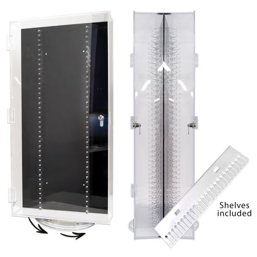 """24"""" DOUBLE SIDED BODY JEWELRY DISPLAY WITH 21 SHELVES"""