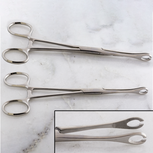 FORCEPS SPONGE SLOTTED WITH RATCHET