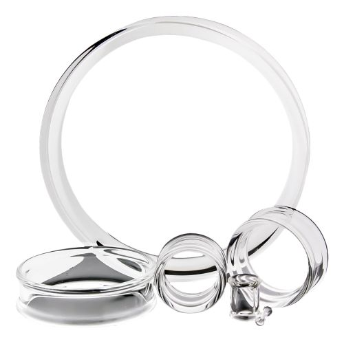 DOUBLE FLARE PYREX GLASS TUNNELS