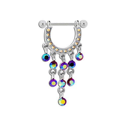 NIPPLE BARBELL WITH AB PAVE STIRRUP