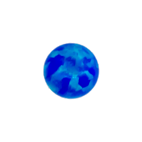 SYNTHETIC BLUE OPAL 3MM CAPTIVE BEAD REPLACEMENT BALLS. SOLD SINGLY AND CAN BE USED WITH 20G-10G ...