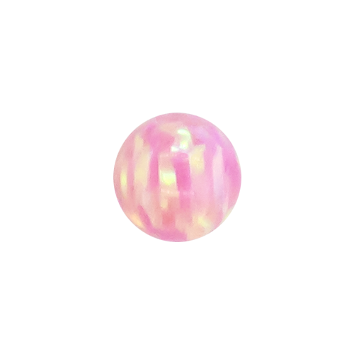SYNTHETIC PINK OPAL 3MM CAPTIVE BEAD REPLACEMENT BALLS. SOLD SINGLY AND CAN BE USED WITH 20G-10G ...