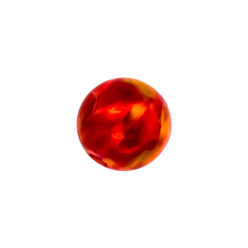 SYNTHETIC RED OPAL 4MM CAPTIVE BEAD REPLACEMENT BALLS. SOLD SINGLY AND CAN BE USED WITH 20G-10G CAPTIVES.