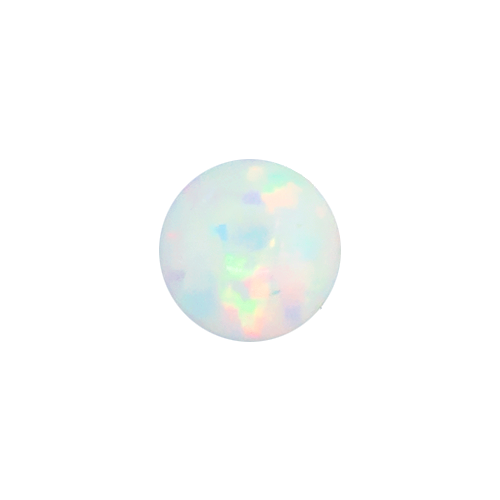 SYNTHETIC WHITE OPAL 3MM CAPTIVE BEAD REPLACEMENT BALLS. SOLD SINGLY AND CAN BE USED WITH 20G-10G CAPTIVES.