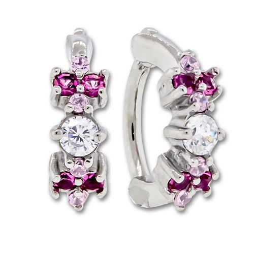 PINK AND CLEAR GEM CLUSTER ROOK CLICKER