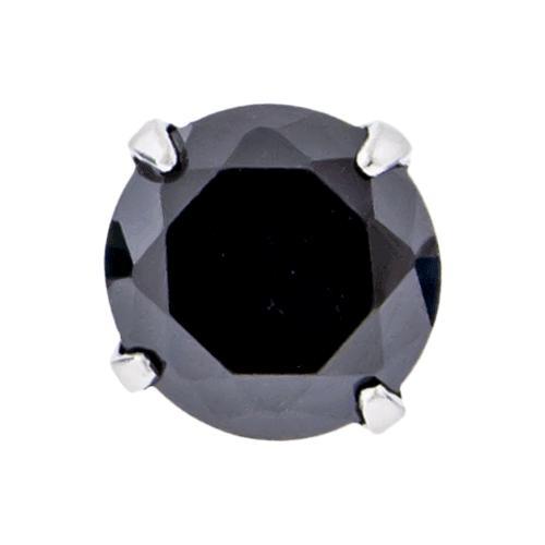 14G STEEL ROUND GEM PRONG SET REPLACEMENT HEAD - BLACK 3MM