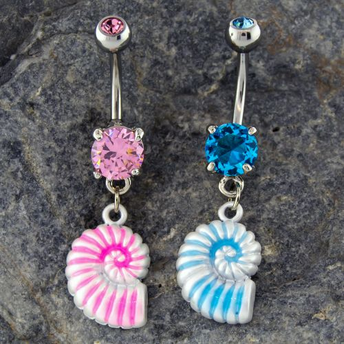 SEA SHELL BELLY RING