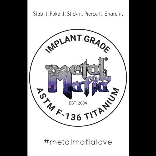 METAL MAFIA IMPLANT GRADE TITANIUM POSTER
