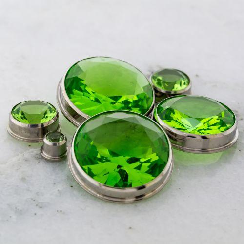 LIGHT GREEN GEM INSERT