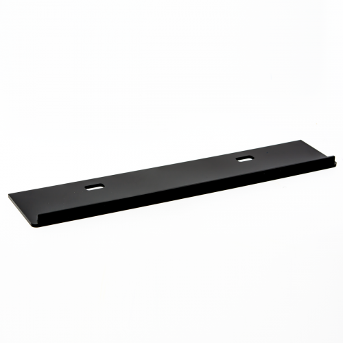 BLACK EXTRA SOLID SHELF WITH NO HOLES FOR PLUGS ON DISPLAY 350