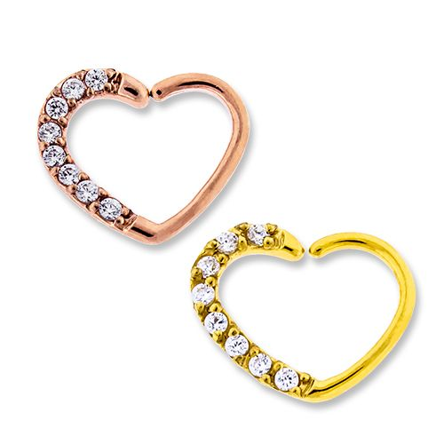 RIGHT SIDE- PAVE GEM ANNEALED HEART DAITH RING