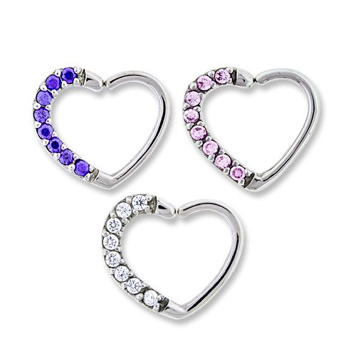 RIGHT SIDE -PAVE GEM ANNEALED HEART DAITH RING