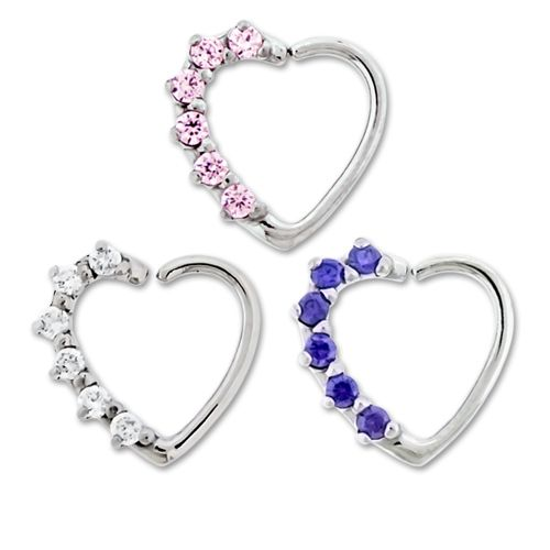 RIGHT SIDE PRONG GEM ANNEALED HEART DAITH RING