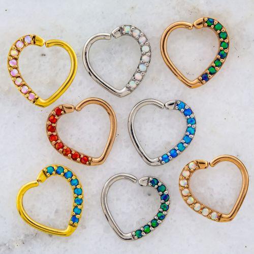 OPAL HEART SEAMLESS RING