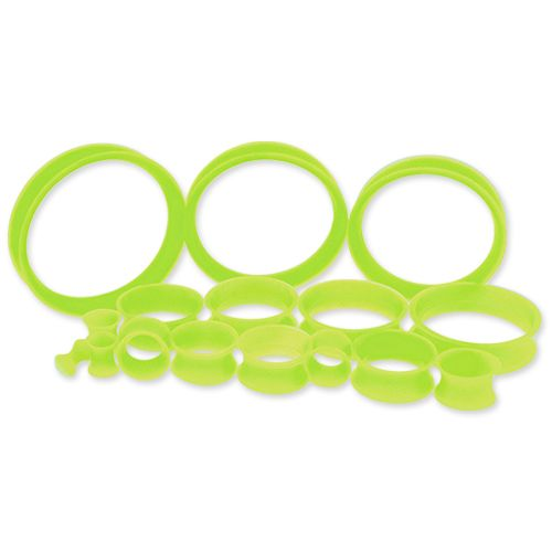 GREEN SILICONE TUNNELS FROM 6G-50MM.