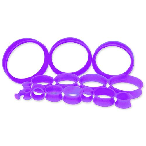 PURPLE SILICONE TUNNELS FROM 6G-50MM.