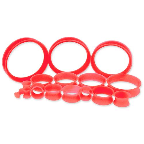 RED SILICONE TUNNELS FROM 6G-50MM.