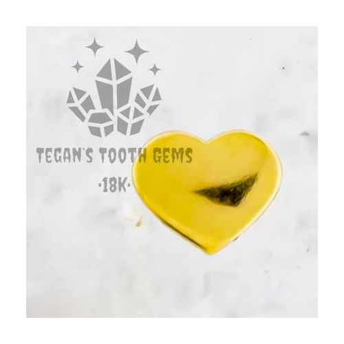 TEGAN'S TOOTH GEMS 18KT GOLD BABY HEART