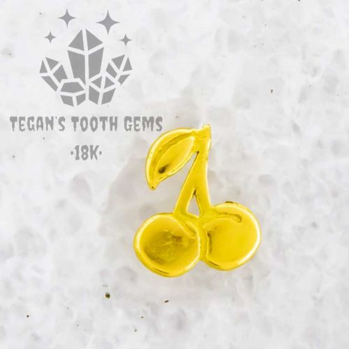 TEGAN'S TOOTH GEMS 18KT GOLD CHERRIES