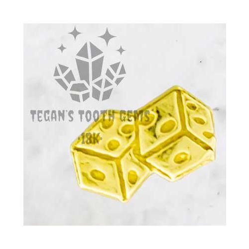 TEGAN'S TOOTH GEMS 18KT GOLD DICE