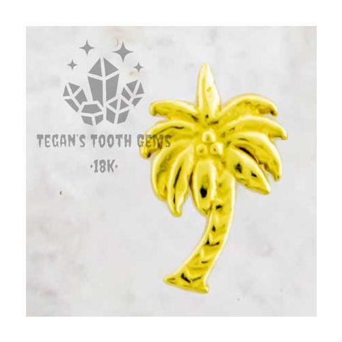 TEGAN'S TOOTH GEMS 18KT GOLD PALM TREE